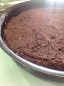 brownie de batata doce na assadeira