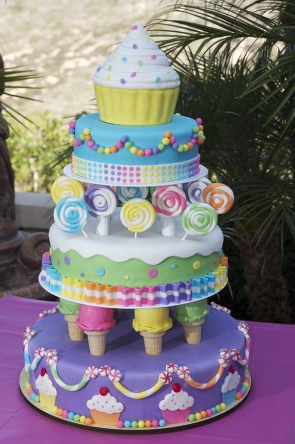 bolos decorados doces