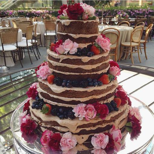 naked cake le jardin secret