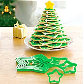 arvore de natal com biscoitos