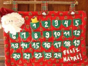 decoração de natal contagem regressiva