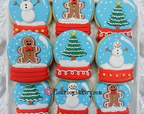 biscoitos decorados globodeneve