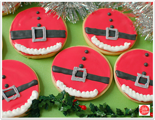 biscoitos decorados papai noel redondo