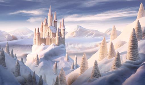 castelo de chocolate branco